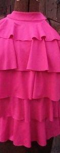 Hot pink layered halter top